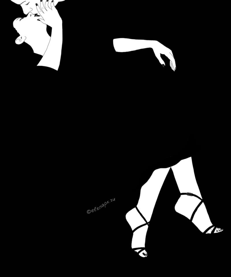 Black&White: поцелуй