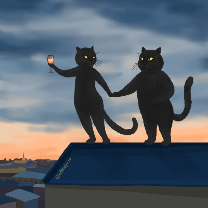Хулиганы прогуливают родительское собрание на крыше