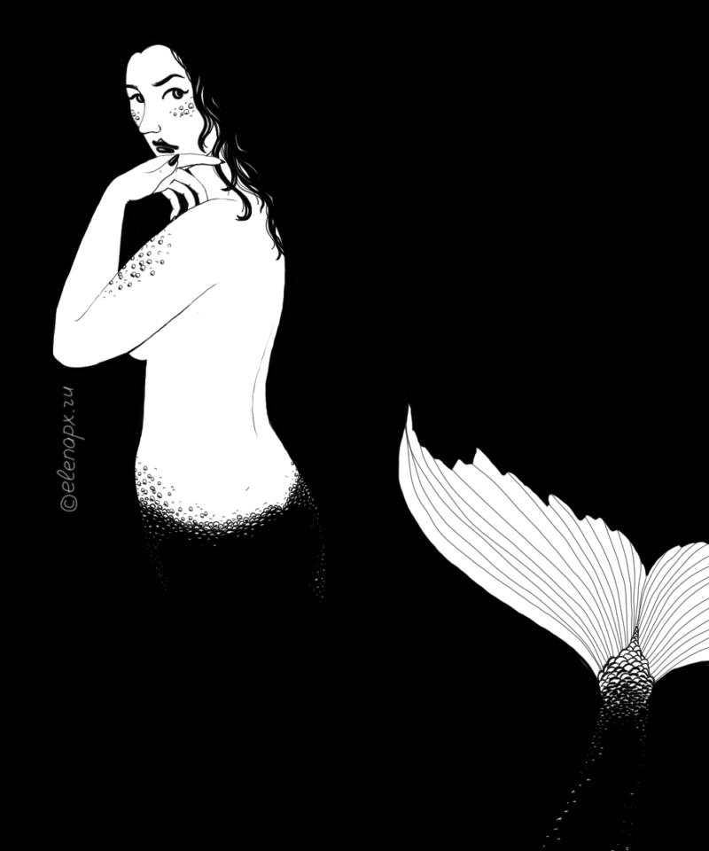 Black&White: русалка