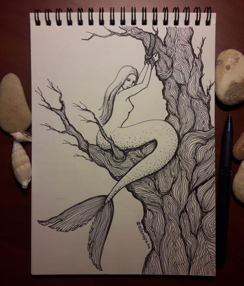 Русалки - рисовальный челлендж