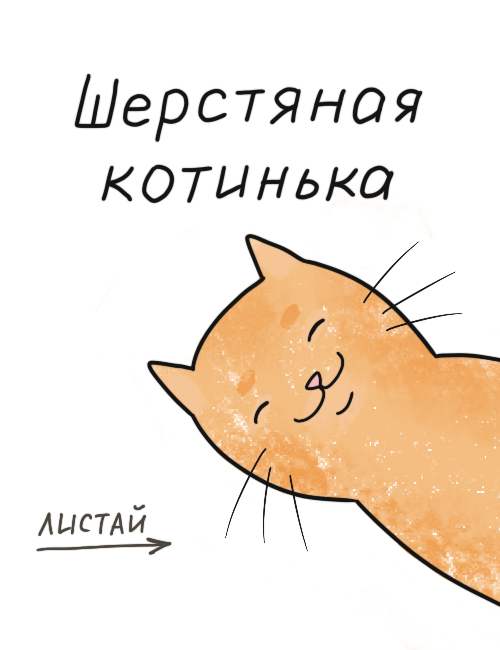 Шерстяная котинька