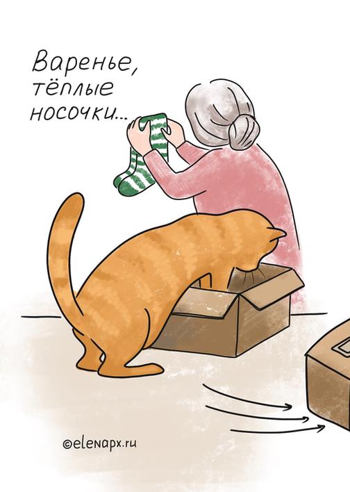 Шерстяная котинька - посылка